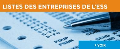 Liste des entreprises de l'ESS