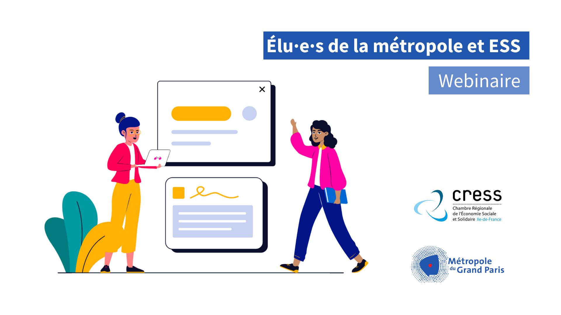 Métropole du Grand Paris la formation des élus à l'ESS fait salle comble… en ligne