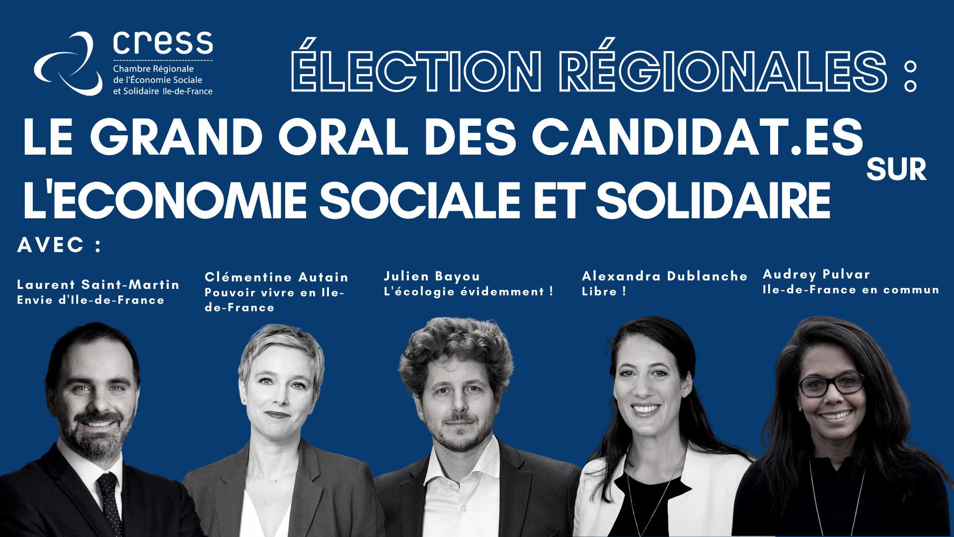 Elections régionales: le grand oral des candidats en Ile-de France